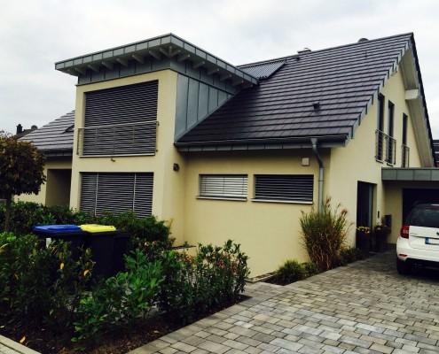 Neubau, Doppelhaus, Hürth, Eingangsansicht